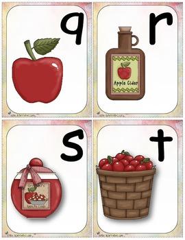 Alphabet et pommes (alphabet cards activities)