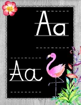 Alphabet flamants roses