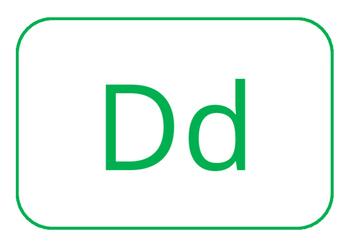 Alphabet flashcards - colour