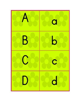 Alphabet flashcards-green