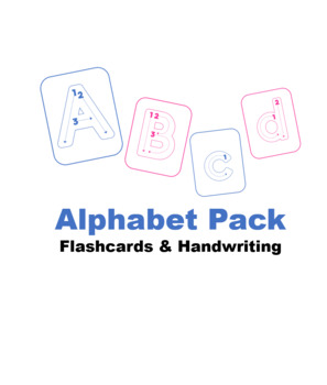Alphabet flashcards/handwriting