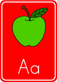 Alphabet - beginning sound - flashcards/posters A4