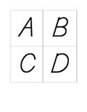Alphabet flashcards-uppercase-d'nealian font