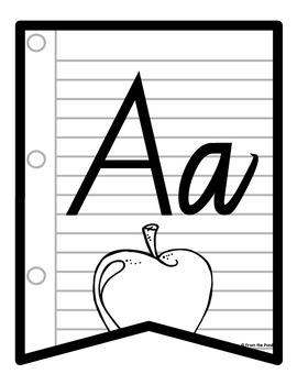 Alphabet for Big Kids Banner NSW Cursive Font