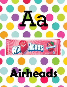 Alphabet for Candy Themed Classroom
