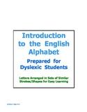 Alphabet for Dyslexia Students