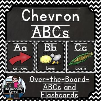 Alphabet: Chevron Black/White