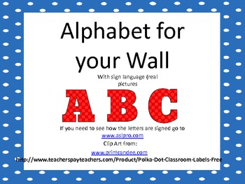 Alphabet for the Classroom Wall