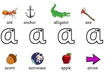 Alphabet formation mats
