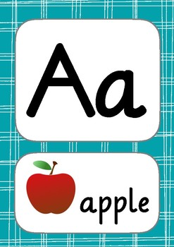 Alphabet frieze for english language learners (ELLs) and international students