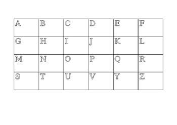 Alphabet grid