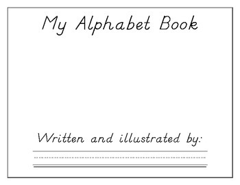 Alphabet handwriting book (D'Nealion style) customizable