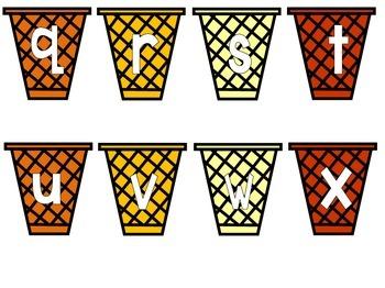 Alphabet ice-creams