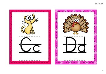 Alphabet illustré - Thème des animaux
