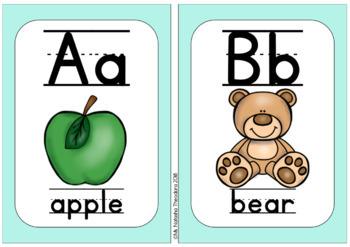 Alphabet in Calm Colors