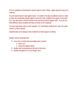 Alphabet in English Dice Game
