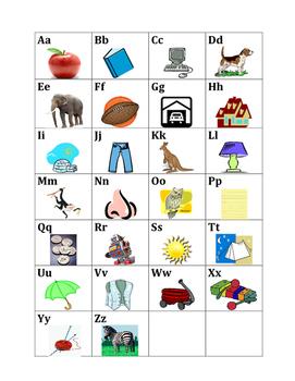 Alphabet in English mini-poster