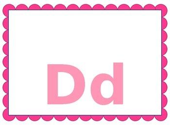 Alphabet in Pink