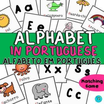 Alphabet in Portuguese   Alfabeto em Português   Matching Game