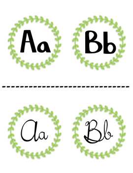 Alphabet in Print and Cursive - Simply Rustic Style