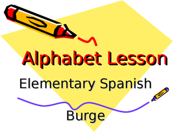 Alphabet in Spanish - Powerpoint Lesson