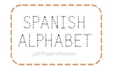 Alphabet in Spanish (dotted line)