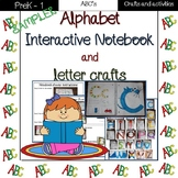 Alphabet interactive notebook and letter crafts sampler