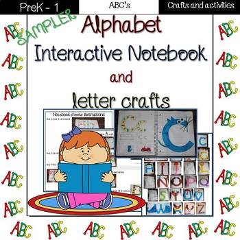 Alphabet interactive notebook and letter crafts sampler