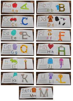 Alphabet journal and letter crafts