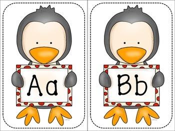 Alphabet labels: Penguins (Half page)