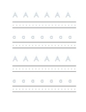 Alphabet letter A Writing Kindergarten Center Alphabet Recognition Printable
