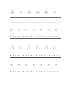 Alphabet letter A Writing Kindergarten Center Alphabet Recognition Printable