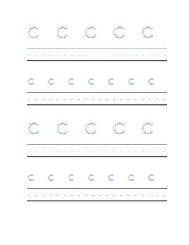Alphabet letter C Writing Kindergarten