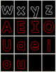 Alphabet (letter) Cards for Centers