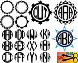 Alphabet letter clip art SVG school teachers Logo monogram cutting text abc 024S