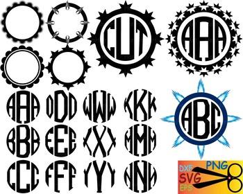 Alphabet letter clip art SVG school teachers Logo monogram