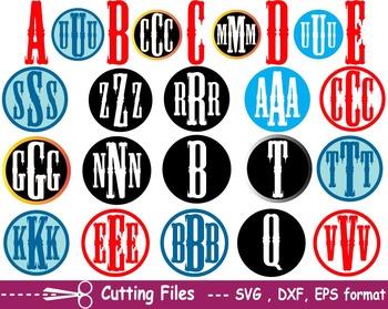 Alphabet letter EPS SVG DXF school teachers Logo monogram cutting text abc -04S-