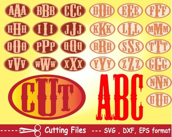 Alphabet letter EPS SVG DXF school teachers Logo monogram cutting text abc -05S