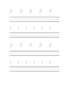 Alphabet letter F Writing Kindergarten
