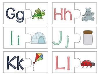 Alphabet letter-Sound puzzles