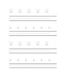 FREEBIE Alphabet letter U Writing Kindergarten