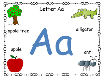 Alphabet letter and sound cards