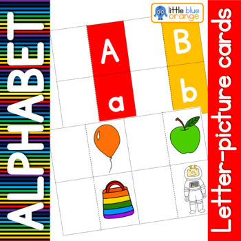 Alphabet - beginning sound -  letter card with picture inside