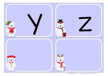 Alphabet letter cards - Polar bears - CHRISTMAS / WINTER - Literacy