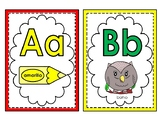 Alphabet letter cards (all 30 Spanish letters only/colored) for wall & word wall