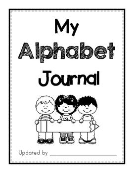 Alphabet letter & digraph journal - poem, sentence writing