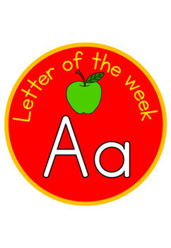 Alphabet - beginning sound - letter of the week signs