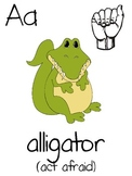 Alphabet letter posters that help teach letter sounds too.