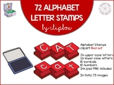 Alphabet letter stamps - Red set