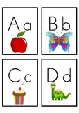Alphabet letter/picture flashcards x4